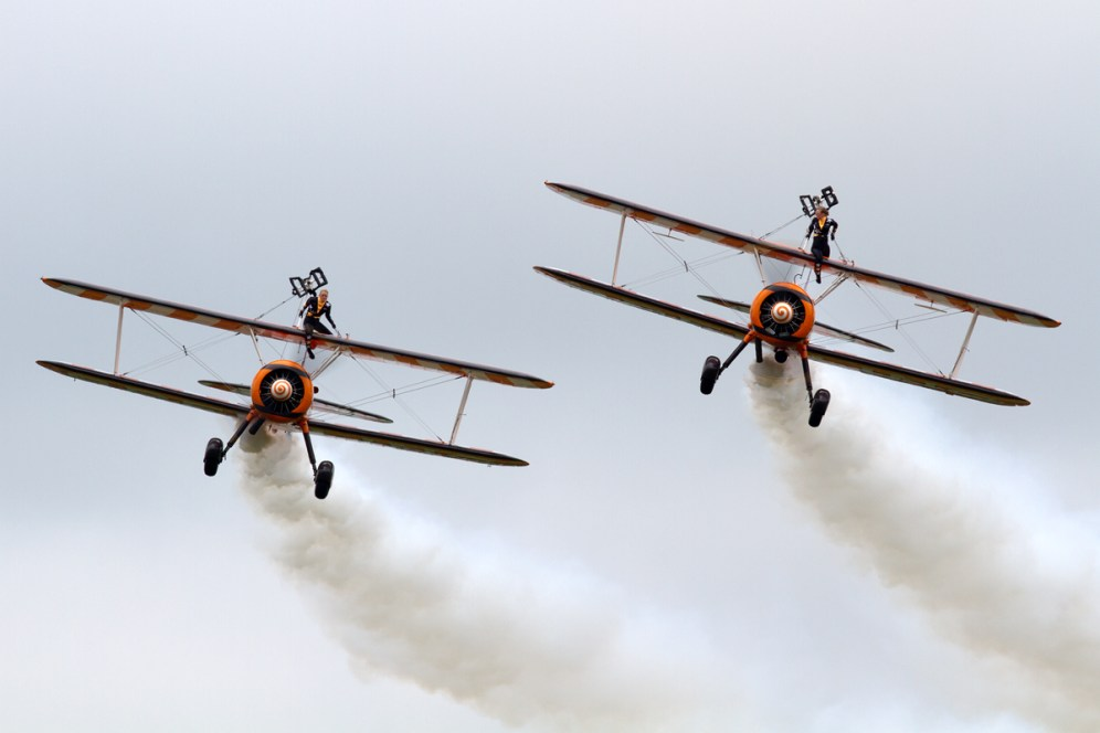 © Mic Lovering • Breitling Wing Walkers • RAF Cosford Air Show 2015