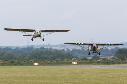 © Adam Duffield • Auster Autocrat & Piper Cub • Duxford VE Day 70th Anniversary Airshow