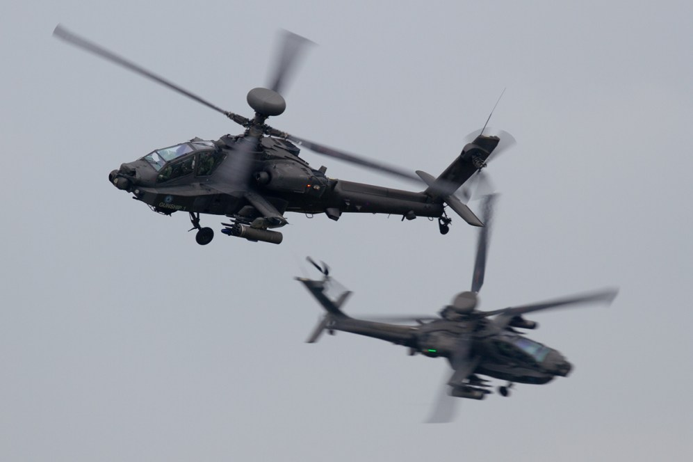 © Mic Lovering • AAC Apache Duo • RAF Cosford Air Show 2015