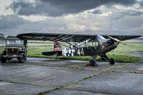 © Paul Smith • Piper Grasshopper (Cub) 43-29854 • Biggin Hill Heritage Hangar Nightshoot