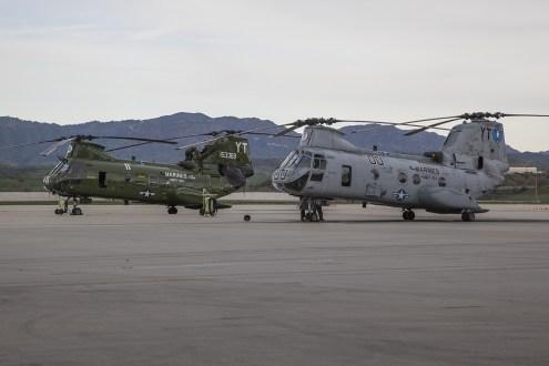 © Jason Grant • Boeing Vertol CH-46E Sea Knight 155306 & 153369 • Marine Corps Base Camp Pendleton