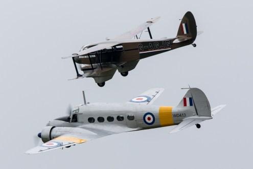 © Adam Duffield • Avro Anson & de Havilland Dragon Rapide • Duxford VE Day 70th Anniversary Airshow