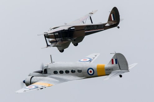 © Adam Duffield • Avro Anson & de Havilland Dragon Rapide • Duxford VE Day 70th Anniversary Airshow