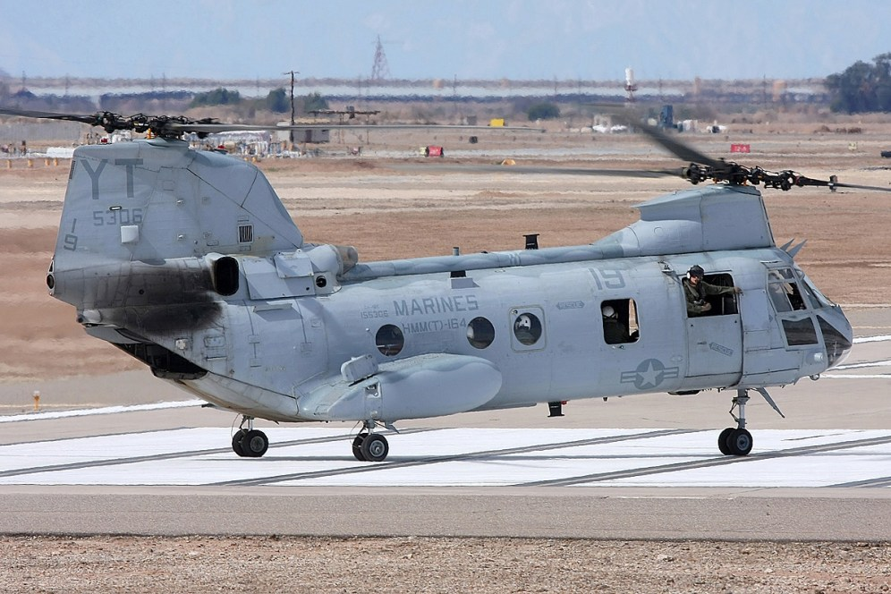 © Mark Forest • Boeing Vertol CH-46E Sea Knight 155306 • Marine Corps Base Camp Pendleton