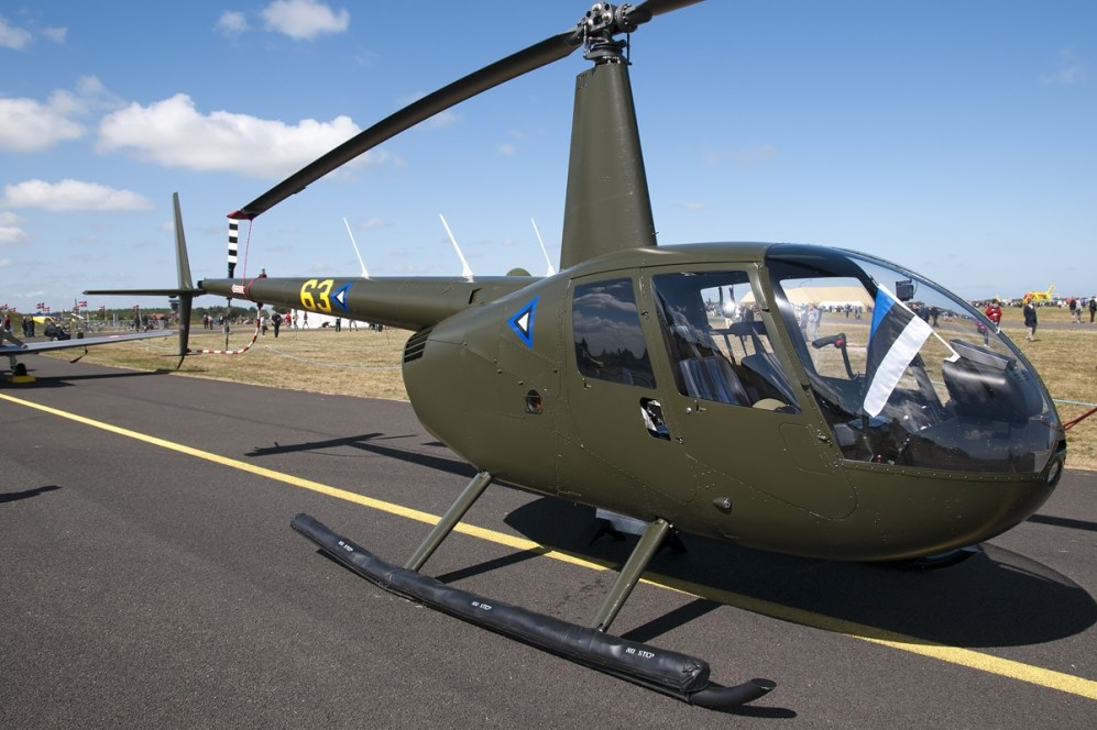 © Duncan Monk • Estonian Air Force Robinson R44 • RDAF Karup Airshow 2014