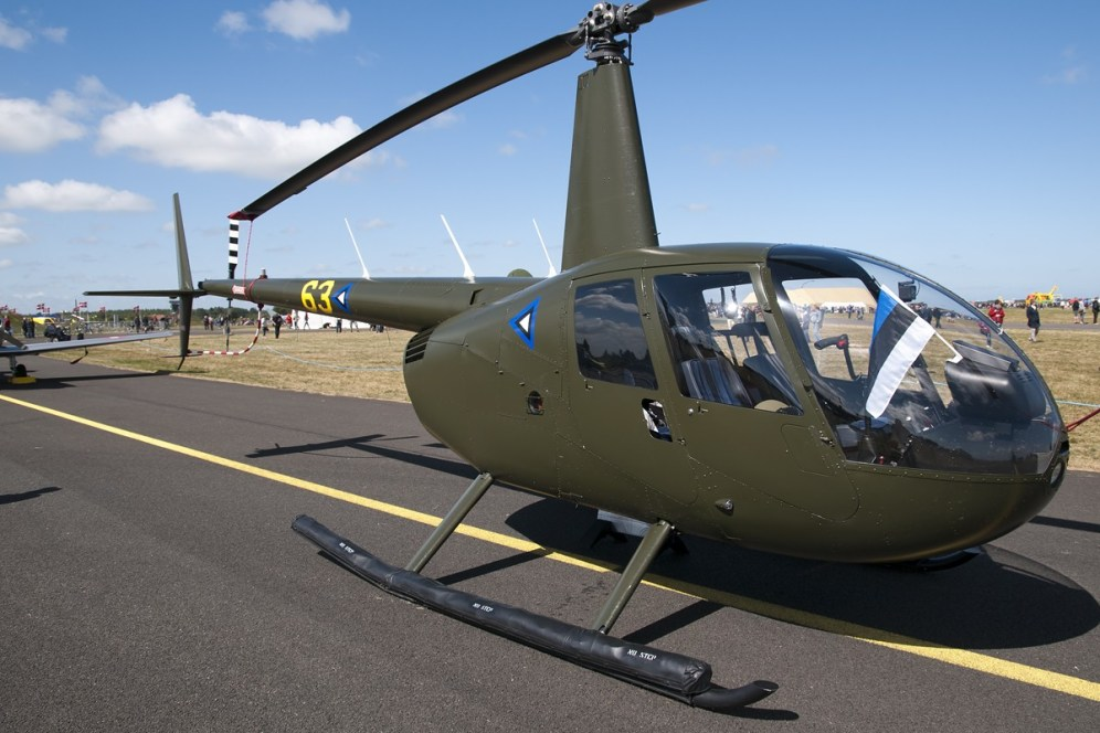© Duncan Monk • Estonian Air Force Robinson R44 • RDAF Karup Airshow 2014