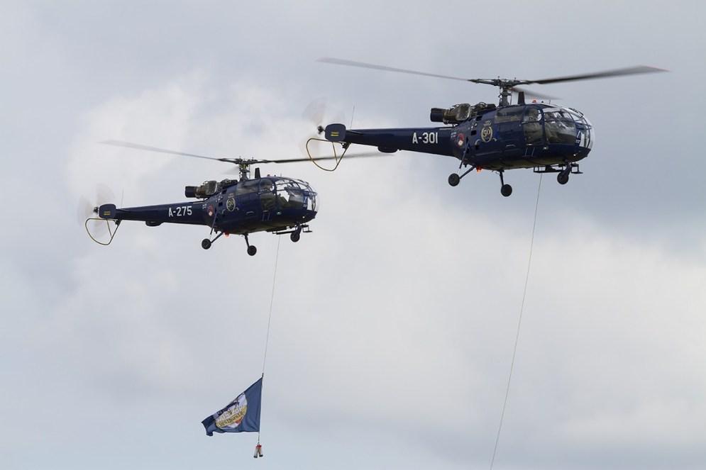 © Adam Duffield • Aérospatiale Alouette III A-301 & A-275 • Luchtmachtdagen 2014