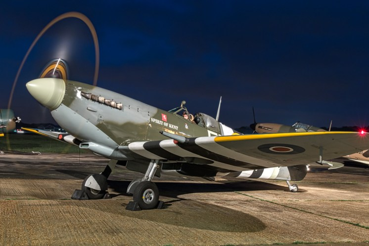 © Paul Smith • Spitfire MkIX TA805 'Spirit of Kent' • Biggin Hill Heritage Hangar Nightshoot