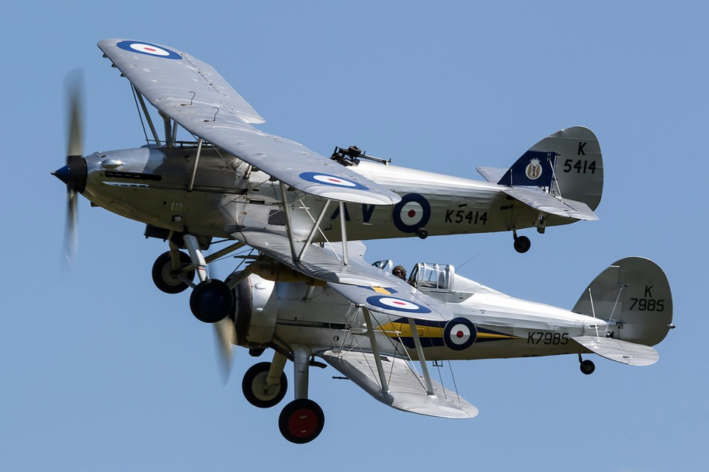 © Adam Duffield • Gloster Gladiator & Hawker Hind • Shuttleworth LAA Party in the Park