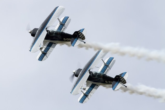 © Adam Duffield • Wildcat Aerobatics Pitts S-2s • Old Buckenham Airshow 2014