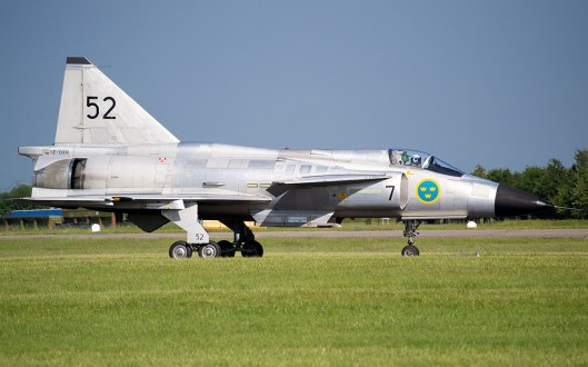 © Adam Chittenden • SAAB Viggen AJS37 SE-DXN - Waddington International Airshow 2013
