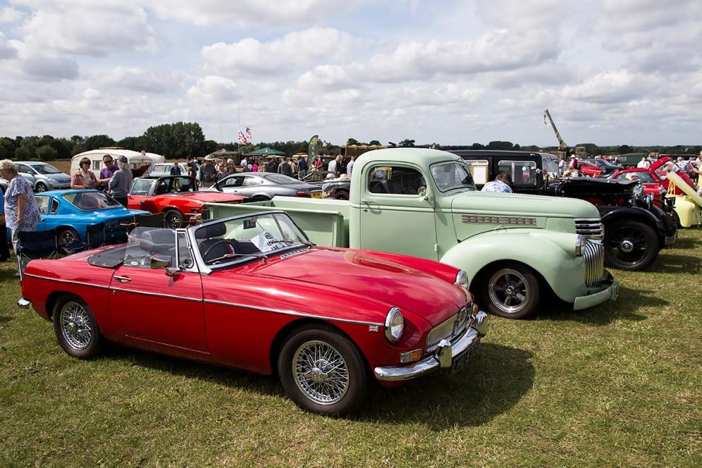 © Adam Duffield • Classic Car lineup • Old Buckenham Airshow 2015
