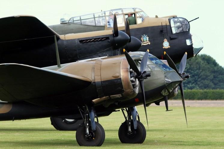 © Jamie Ewan • Bristol Blenheim MkI G-BPIV & Avro Lancaster NX611 'Just Jane' • East Kirkby Airshow
