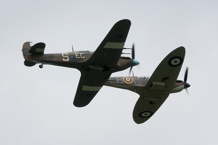 © Jamie Ewan • BBMF Spitfire MkIIa & Hurricane MkIIc • Dunsfold Wings & Wheels 2015