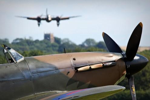 © Jamie Ewan • Bristol Blenheim MkI G-BPIV & Hawker Hurricane MkI R4118 • East Kirkby Airshow