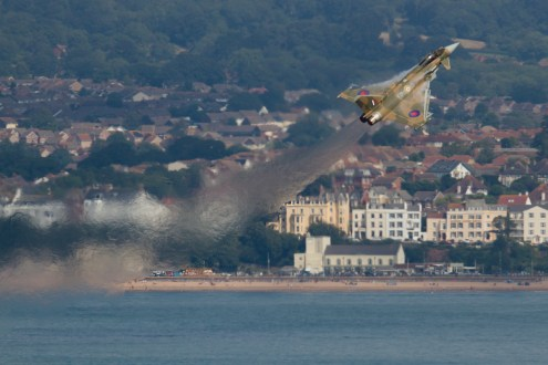© Michael Lovering • RAF Typhoon FGR4 ZK349 • Dawlish Airshow 2015