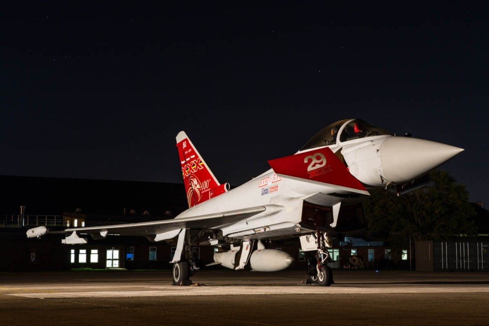 © Harry Measures • Eurofighter Typhoon FGR.4 • RAF Coningsby Nightshoot
