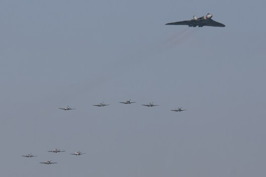 © Daniel Kennedy/www.facebook.com/Danielkennedyphotography - Vulcan XH558 with 7 spitfires and 2 hurricanes during LLA 2015 - Vulcan XH558 Image Wall