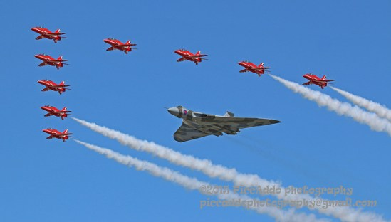 © Martin Stitchener - Vulcan and the Red Arrows RIAT 2015 - Vulcan XH558 Image Wall