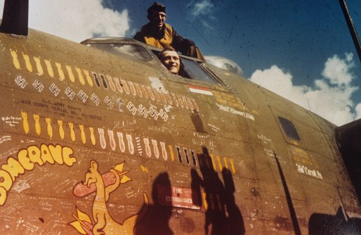 "© Roger Freeman Collection / http://www.americanairmuseum.com - Airmen of the 93rd Bomb Group in the cockpit of their B-24 Liberator nicknamed ""Boomerang"" - 93rd Bomb Group Museum"