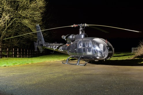 © Mike Buckle - Westland SA341G Gazelle G-EZEL - Bourne Park Nightshoot 2