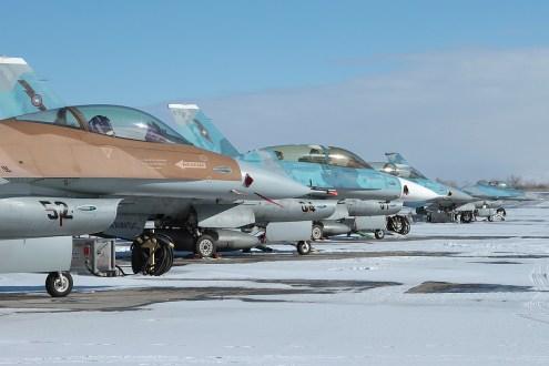 © Mark Forest - General Dynamics F-16N Lineup - NAS Fallon