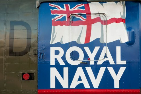 © Duncan Monk - Royal Navy Sea King HC4 Door Ensign