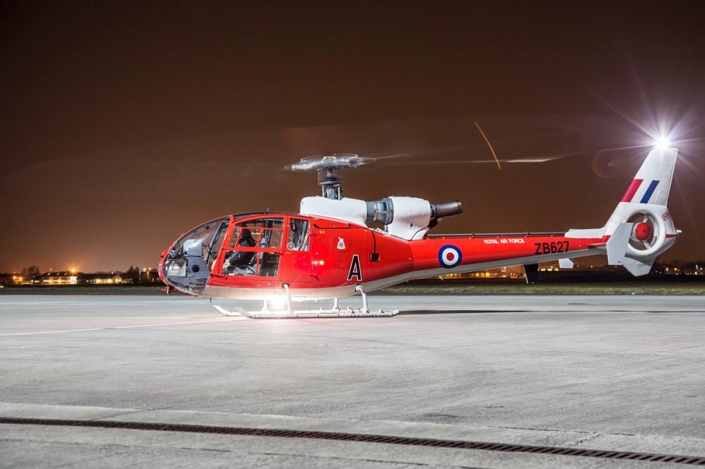 © Ben Montgomery - Gazelle Squadron HT.3 G-CBSK / ZB627 - Northolt Nightshoot XX