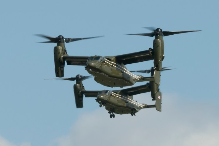 © Duncan Monk - Bell-Boeing MV-22B Osprey – HMX-1 Presidential Helicopters at RAF Mildenhall