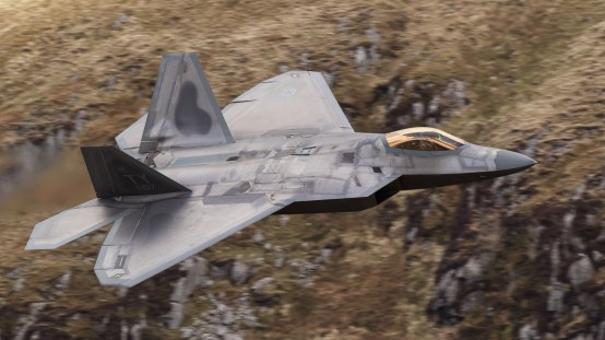 © Peter Lewis - F-22A Raptor Low Level - F-22 Raptor Deployment to RAF Lakenheath