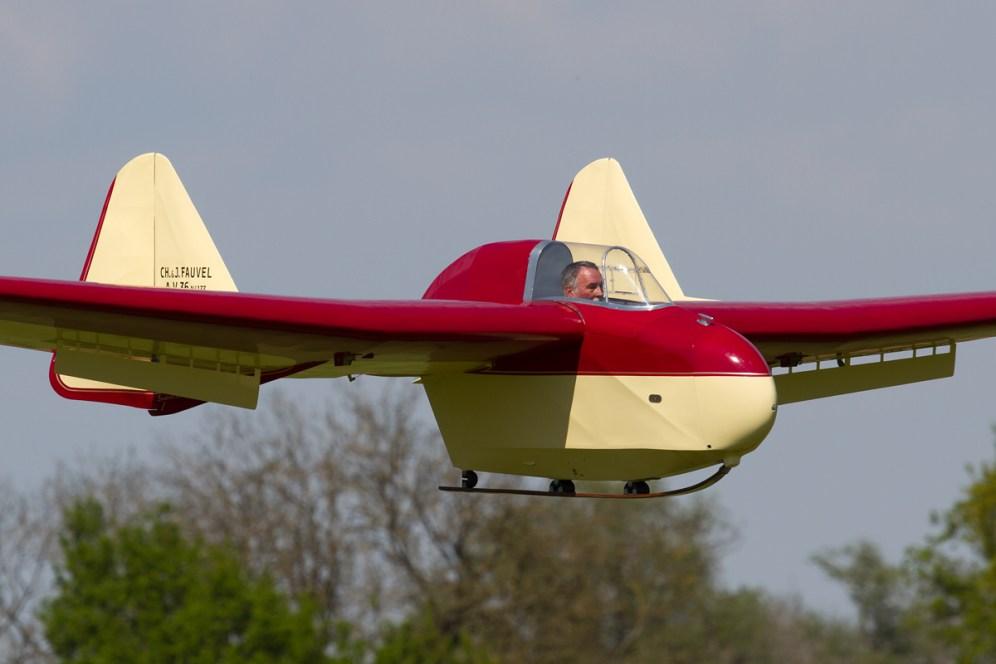 © Michael Lovering - Fauvel AV36 Glider - Shuttleworth Season Premiere Airshow 2016