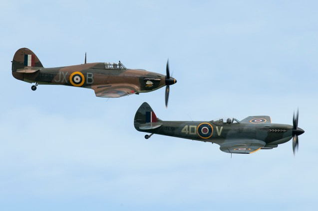 © Duncan Monk - Supermarine Spitfire Mk LF XVIe TE311 and Hawker Hurricane Mk IIc LF363 - Abingdon Air and Country Show 2016