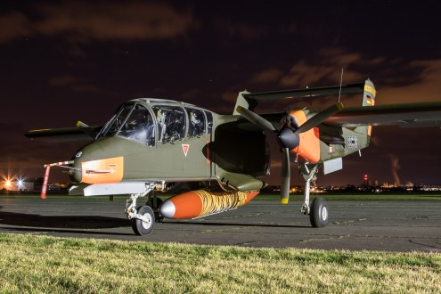 © Adam Duffield - OV-10B Bronco 99+18 / G-ONAA - Abingdon Nightshoot 2016