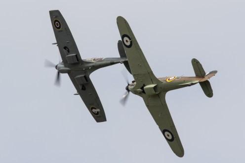 © Adam Duffield - Supermarine Spitfire Mk LF XVIe TE311 and Hawker Hurricane Mk IIc LF363 - Abingdon Air and Country Show 2016
