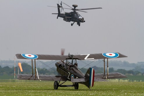 © Craig Sluman - Great War Display Team and AAC Apache - Duxford American Air Show 2016