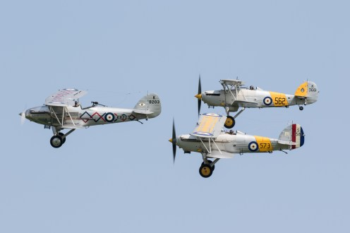 © Adam Duffield - Hawker Biplane formation - Shuttleworth Fly Navy Air Show 2016
