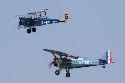 © Adam Duffield - Morane Saulnier MS.317 G-MOSA & de Havilland DH60 Cirrus Moth G-EBLV - Shuttleworth Fly Navy Air Show 2016