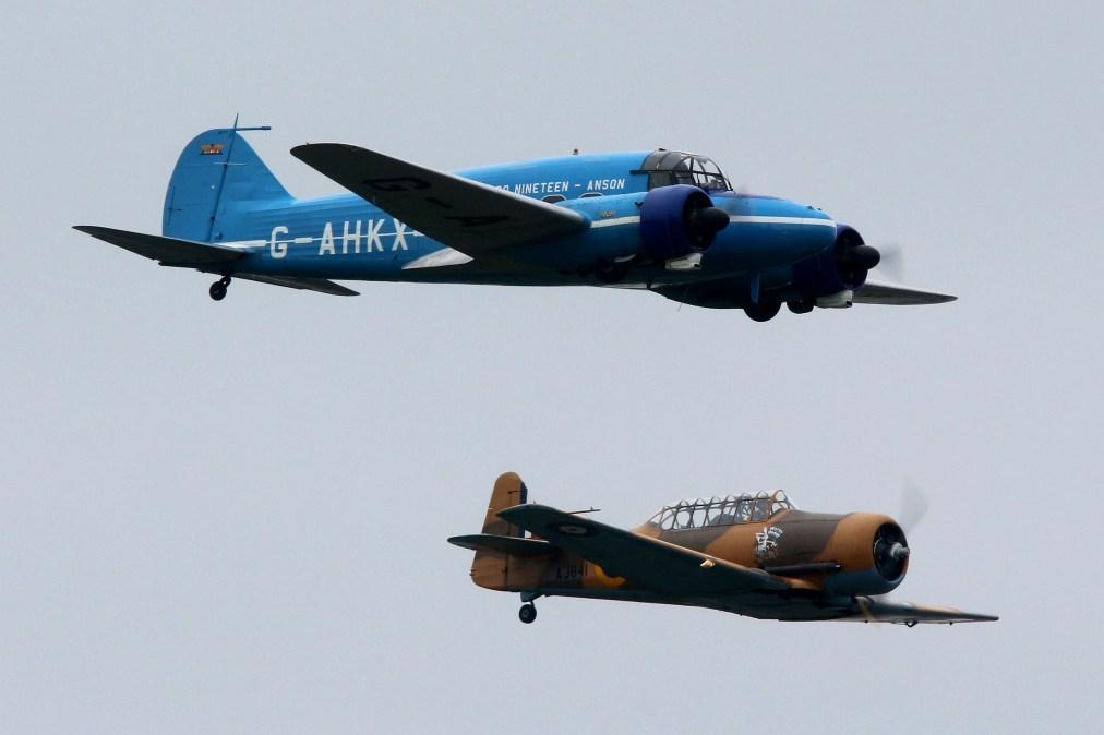 © Jamie Ewan - Avro 652A Anson C.19 Series 2 G-AHKX & T-6H Harvard Mk4M AJ841 'Wacky Wabbit' (G-BJST) - RAF Cosford Air Show 2016