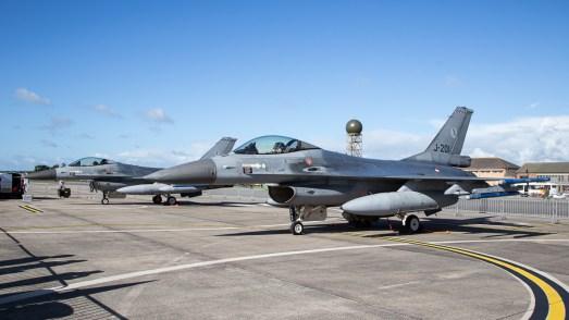 © Adam Duffield - RNlAF F-16AM Static Pair - RNAS Yeovilton Air Day 2016