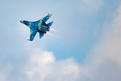 © Michael Lovering - Sukhoi Su-27UB (Blue 58), Ukrainian Air Force - Bucharest International Air Show 2016