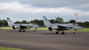 © Adam Duffield - SEPECAT Jaguar T4 XX835/EX & SEPECAT Jaguar T4 XX847/EZ - RAF Cosford Jaguars final prowl