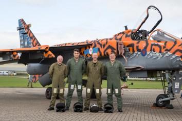 © Adam Duffield - The crew of the final taxi runs - RAF Cosford Jaguars final prowl