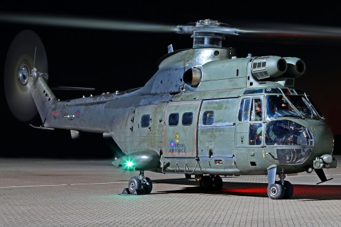 © Mark Kwiatkowski - Royal Air Force Westland SA-330E Puma HC.2 ZJ957 - Northolt Nightshoot XXI