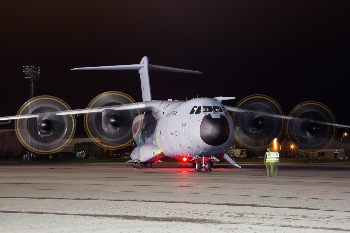 © Adam Duffield - Airbus A400M Atlas ZM400 - RAF Brize Norton Nightshoot