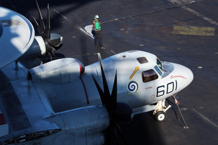 © Jamie Ewan - Northrop Grumman E-2C Hawkeye - USS Dwight D Eisenhower