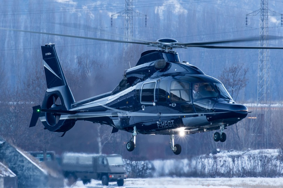 © Adam Duffield - Eurocopter EC155 F-HEGT landing at the Sion Airport Terminal - World Economic Forum Air Policing