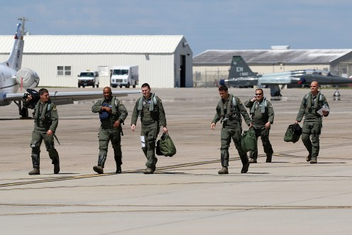 ©Mark Forest - Crews walking out to their aircraft - US Air Force Air Education and Training Command