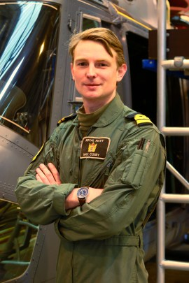 © Mark Kwiatkowski - Lieutenant Max Cosby, the final Lynx pilot trainee - Royal Navy Lynx Retirement