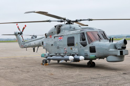 © Mark Kwiatkowski - Royal Navy Lynx XZ728 on static during the retirement media event - Royal Navy Lynx Retirement