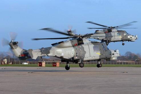 ©Mark Kwiatkowski - A pair of Wildcats at their RNAS Yeovilton home base - Royal Navy Lynx Retirement